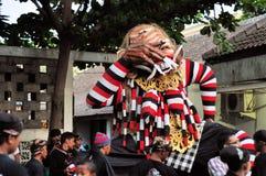 Mythological mask, Yogyakarta city festival parade Royalty Free Stock Photos