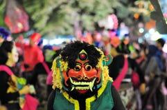 Mythological mask, Yogyakarta city festival parade Royalty Free Stock Photo