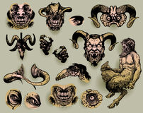 Mythological monsters Stock Images