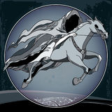Mythological Nazgul in the round frame. The series of mythological creatures Stock Photos