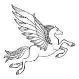 Mythological Pegasus. The series of mythological creatures Royalty Free Stock Photos