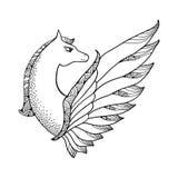 Mythological Pegasus. The series of mythological creatures Royalty Free Stock Image