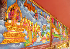 Mythological picture on the wall of asian temple Stock Image