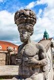 Mythological sculptures at fountain Sprudelhof in Bad Nauheim, Germany Royalty Free Stock Image