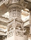 Mythological Stories in pillar stone carving Royalty Free Stock Photography