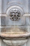 Mythological water fountain face, Vienna, Austria Royalty Free Stock Images