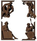 Mythologisch hoekornament Royalty-vrije Stock Fotografie