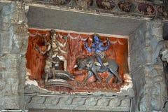 Mythologisch verhaal van Lordshiva en Yamaraja stock afbeeldingen