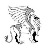 Mythologischer Greif Die Reihe von mythologischen Geschöpfen Lizenzfreies Stockbild