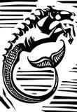 Mythologischer Hippokamp Stockbild