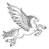 Mythologischer Pegasus Die Reihe von mythologischen Geschöpfen Lizenzfreie Stockfotos