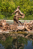 mythology, golden fountains in segovia palace in Spain. bronze f Royalty Free Stock Photo