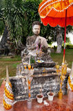 Mythology and religious statues at Wat Xieng Khuan Buddha park. Stock Images