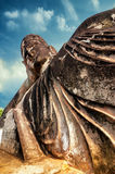 Mythology and religious statues at Wat Xieng Khuan Buddha park. Royalty Free Stock Photos