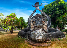 Mythology and religious statues at Wat Xieng Khuan Buddha park. Laos Stock Photo