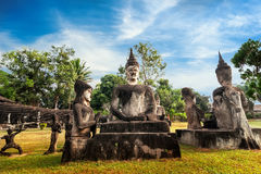 Mythology and religious statues at Wat Xieng Khuan Buddha park. Laos Stock Photography