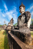 Mythology and religious statues at Wat Xieng Khuan Buddha park. Laos Royalty Free Stock Photography