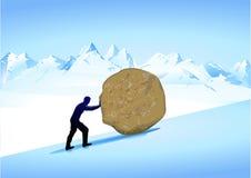 Mythology Sisyphus. Man  from greek  mythology Royalty Free Stock Images