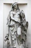 Mythology statue of river Drava by Palm house, Vienna. Austria Stock Photo