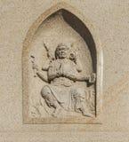 Mythos- Charaktere geschnitzter Stein Stockbild