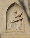 Mythos- Charaktere geschnitzter Stein Stockbilder