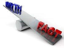 Mythos und Tatsache Stockfotos