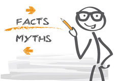 Myths and facts Royalty Free Stock Photography