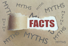 Myths and facts uncovered Royalty Free Stock Images