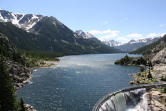 Mytic Lake Dam, Beartooth Mountains, Montana, USA. Stock Image
