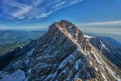 Mytikas, le sommet le plus élevé du mont Olympe chez la Grèce photos libres de droits