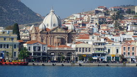 Mytilene. Harbor Stock Photos