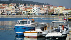 Mytilene puerto Fotos de archivo libres de regalías