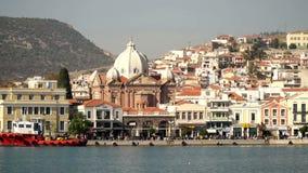 Mytilini, главный город острова Lesvos, Греции городск акции видеоматериалы