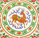Mytiska kinesiska hjortar arkivfoto