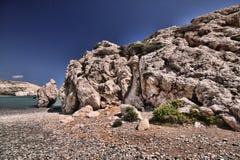 Mytiskt vagga av aphroditen, Cypern arkivbild