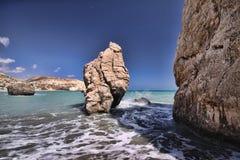 Mytiskt vagga av aphroditen, Cypern royaltyfria bilder