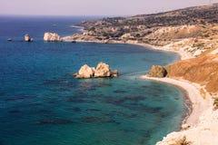 Mytiskt vagga av aphroditen, Cypern arkivbilder