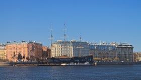 Mytninskaya Embankment Royalty Free Stock Image