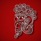 Mytologisk framsida för gud s Balinesetradition vektor illustrationer