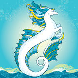 Mytologisk Hippocampus Serien av mytologiska varelser Arkivfoton