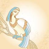 Mytologiskt fågelsammanträde på filialen Serien av mytologiska varelser Vektor Illustrationer