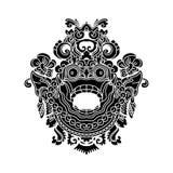 Mytologiskt gudhuvud, indonesisk traditionell konst Royaltyfri Foto