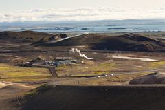Myvatn area landscape - Iceland. Royalty Free Stock Photography