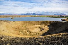 Myvatn lake Royalty Free Stock Images