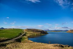 Myvatn lake Stock Image