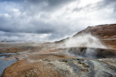 Myvatn lake hot springs in iceland Stock Photography