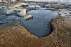 Myvatn lake hot springs in iceland Royalty Free Stock Image