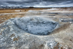 Myvatn lake hot springs in iceland Royalty Free Stock Photography