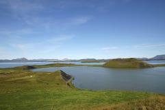 Myvatn lake in Iceland. Stock Image