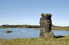 Myvatn lake, Iceland. Stock Image